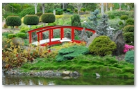 Moraff's MahJongg Japanese Gardens Background