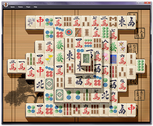 mahjong solitaire layout