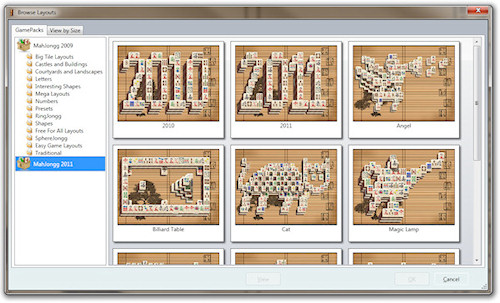 mahjong solitaire layouts